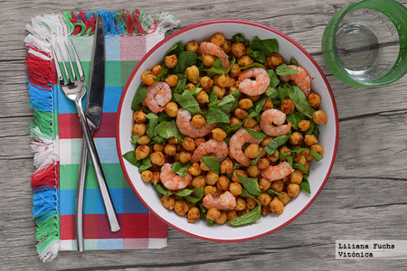 Chickpeas with food